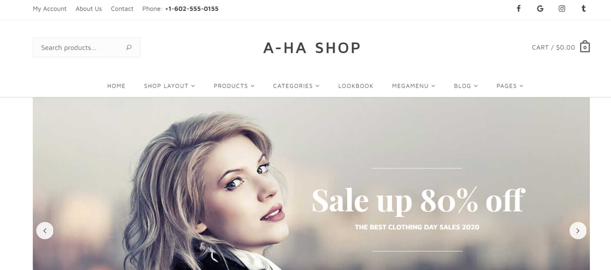 Aha - Shop WordPress Theme for Fashion Clothing Store