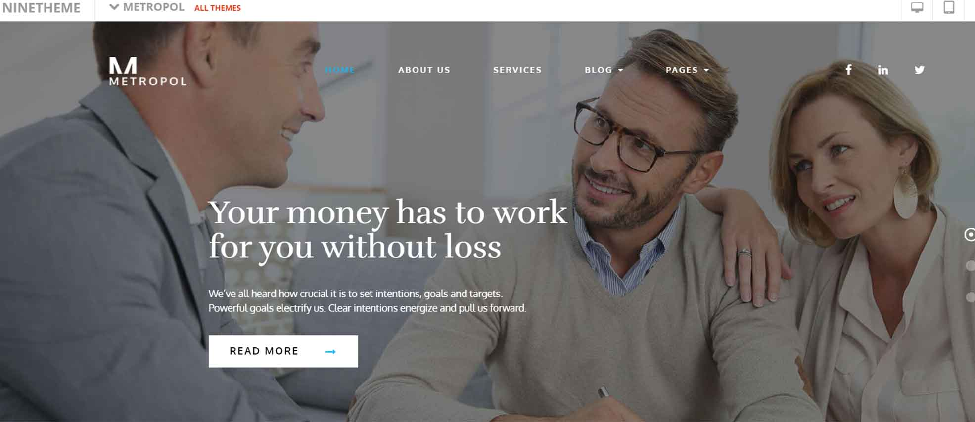 Metropol - Small Business & Financial WordPress Theme
