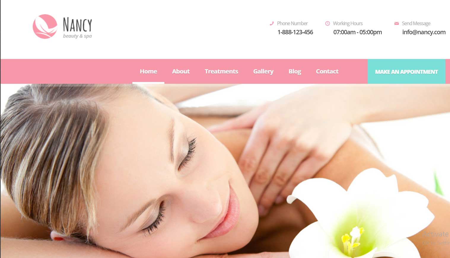 NANCY - Wellness, Spa, Beauty WordPress Theme