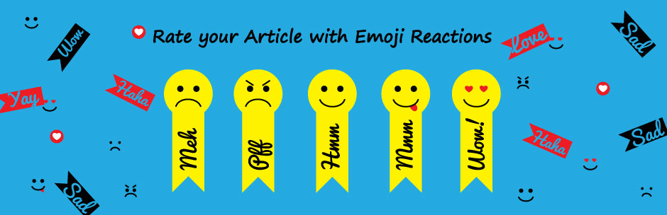 Rate your article with emoji reaction - WP Plugin