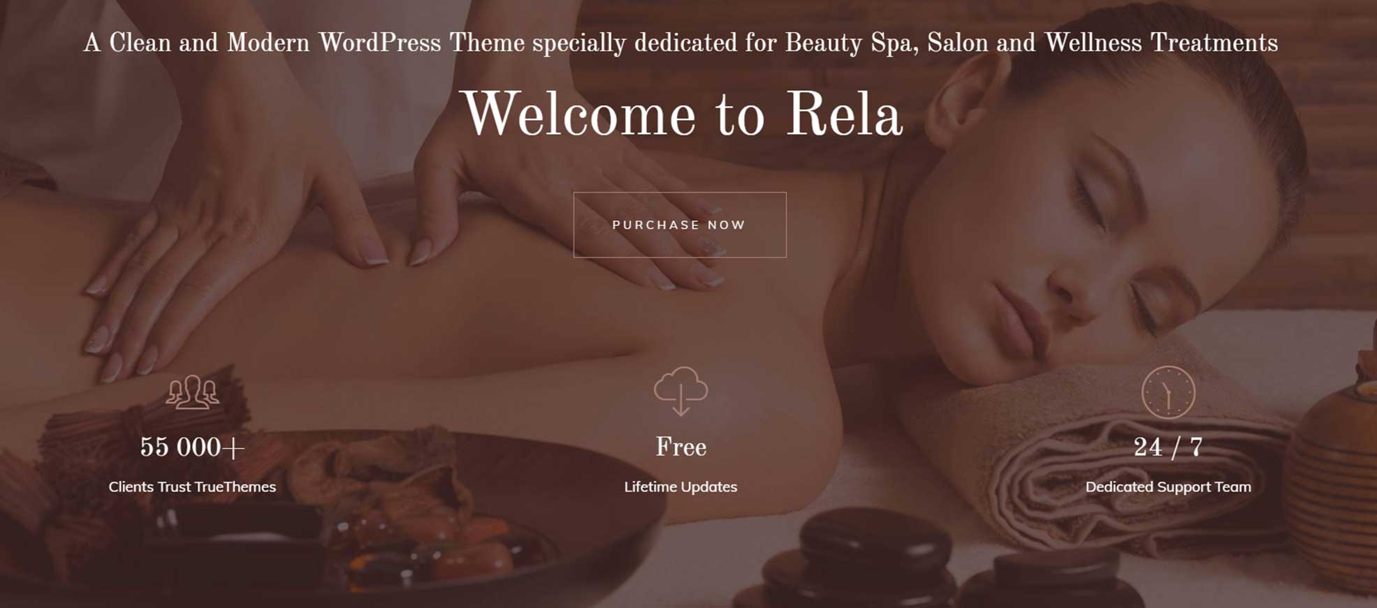 Rela Spa - Massage Salon WordPress