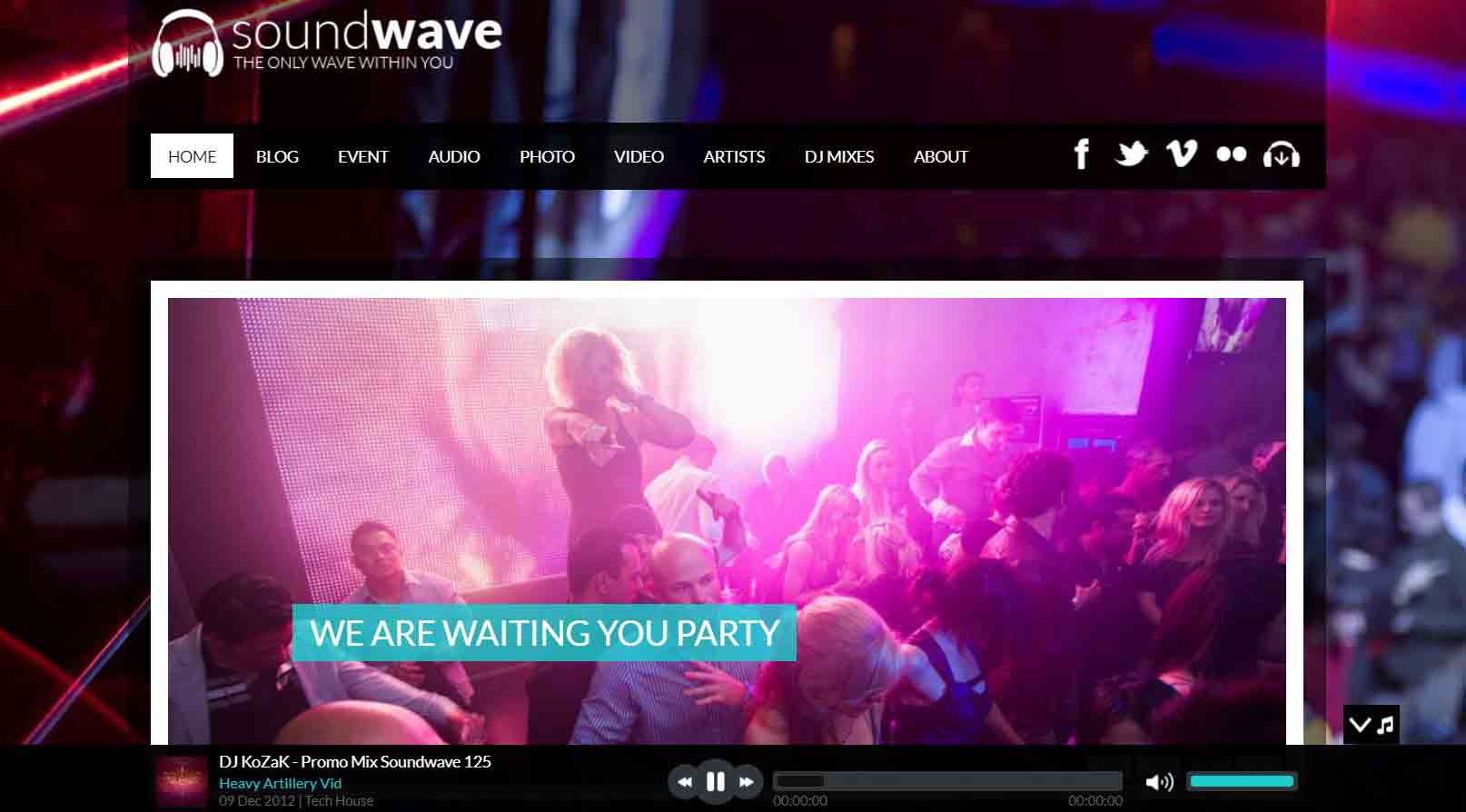 SoundWave - The Music Vibe WordPress Theme