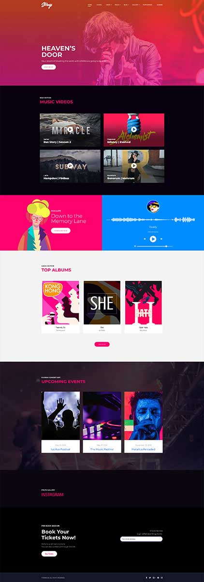 Strings - Music, Band, Artist & Event WordPress Theme