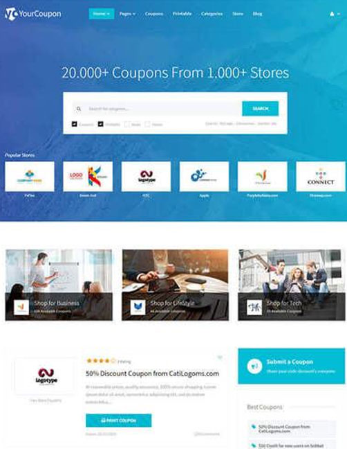 Yourcoupon | Coupons & Deals WordPress Theme
